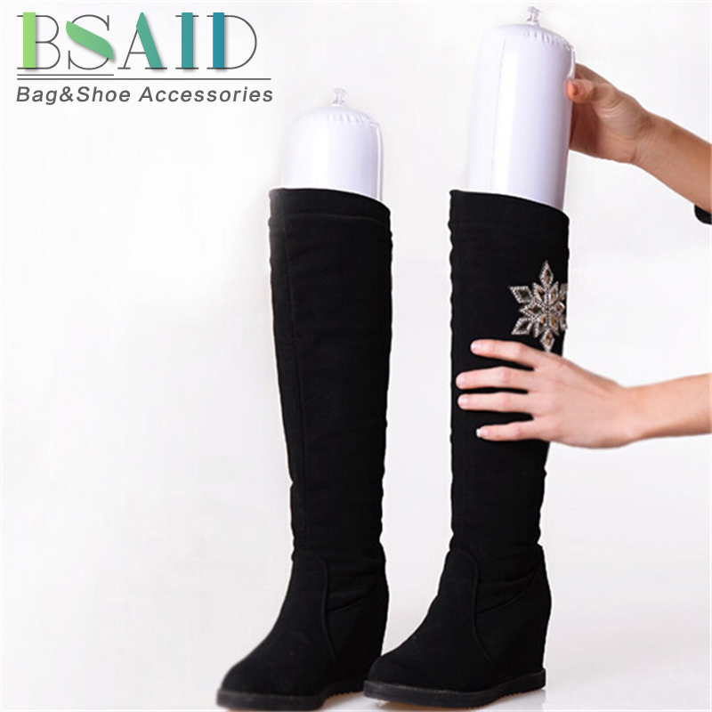 цена BSAID 1 Pair Inflatable Boots Holder Stretcher Shoe Trees PVC Plastic Long Shoes Support Shaper Long Boots Stand Shaper Rack