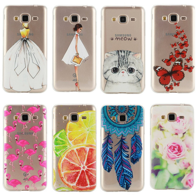 afa0765eb2b For Samsung GALAXY A3 A5 J3 J5 2016 Case Cover Silicon Fashion Girl Cat  Rose Rubber Phone Bag Coque Capinha For GALAXY J3 Cases