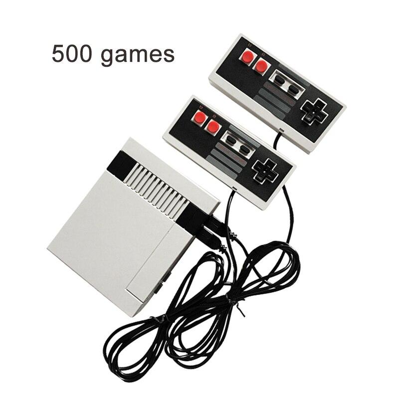 Coolbaby портативной игровой консоли 500 различных игр Ретро детства мини ТВ консоль NES игры PALNTSC двойной геймпад подарок