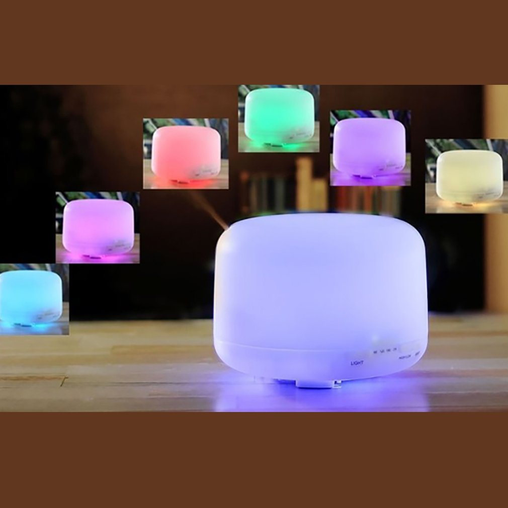 500ml Ultrasonic Air Humidifier Aroma Essential Oil Diffuser Aromatherapy Hmidificador 7 Color Change LED Night Light Home