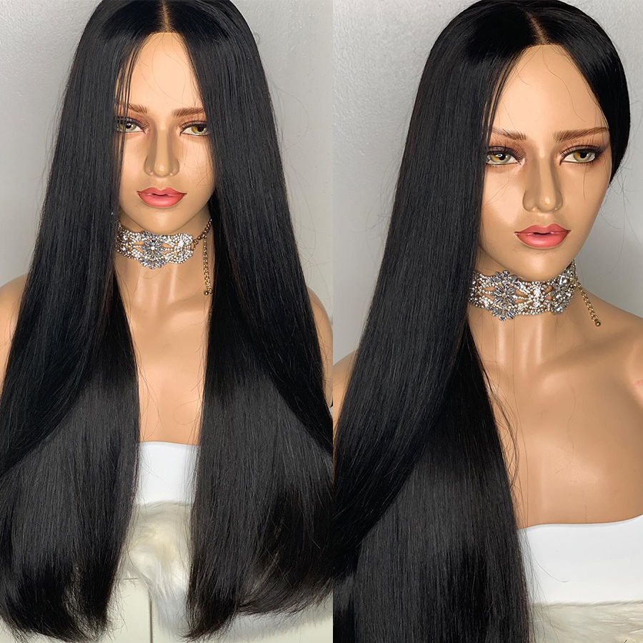 Image 2 - Rosabeauty 30 32 inch Long glueless 13x6 Lace Front Human Hair Wigs pre plucked Brazilian Straight Frontal Wig For Black Women-in Human Hair Lace Wigs from Hair Extensions & Wigs