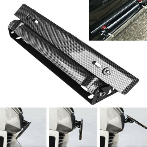Car-styling Universal Adjustable Car License Plate Frame Holder Carbon Fiber Racing Number Plate Auto Mount Bracket