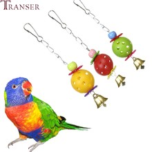 Transer Pet Supply Birds Toys Hollow Ball Beads Hanging Chew Climbing Toy For Parrot Macaw Parakeet 80112(China)
