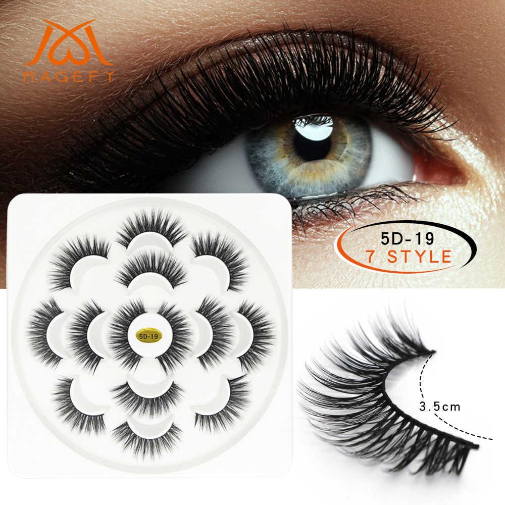 196ae43fb2e ... 1/2/3/7 Pairs 3D Mink Lashes Natural Long False Eyelashes Dramatic ...