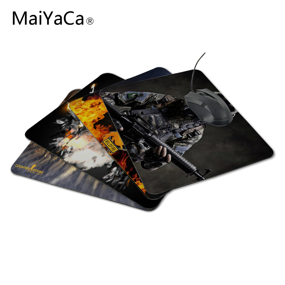 MaiYaCa Hot Sale Counter-Strike Global Offensive Skin Non Slip Durable Rubber Rectangle Mousepad for PC Optical Mouse Gaming Mat