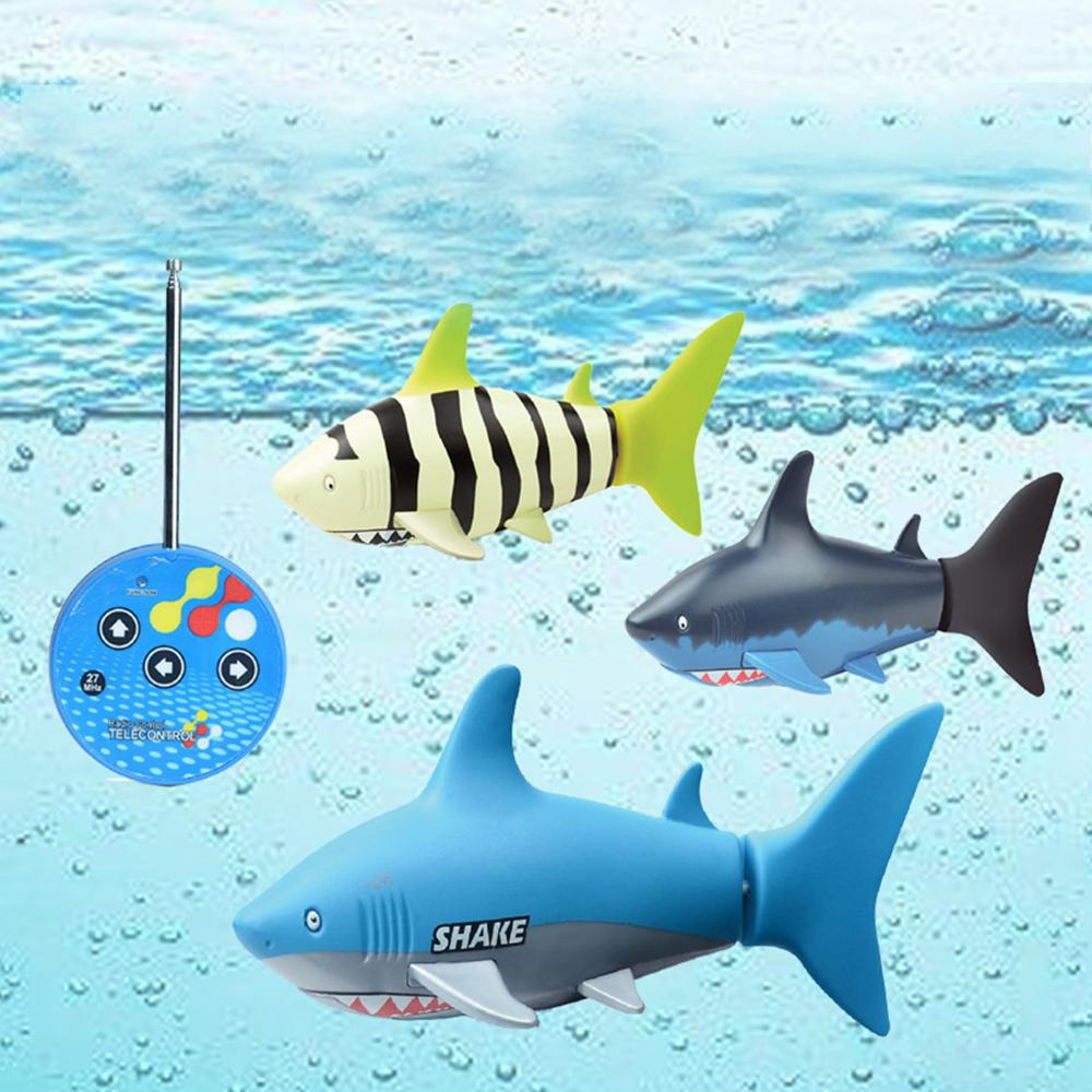 Image 2 - Remote Control Mini Shark Submarine Funny RC Underwater Fish Boat Toy Sharks Toys for  Children-in RC Submarine from Toys & Hobbies