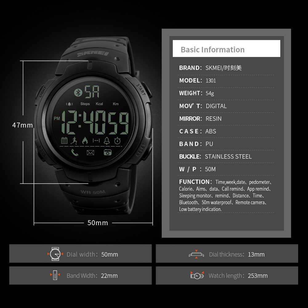 79fa35c5bded ... SKMEI Reloj Inteligente para iPhone IOS Android Bluetooth Smartwatch  Reloj Deportivo Resistente Al Agua Reloj de ...