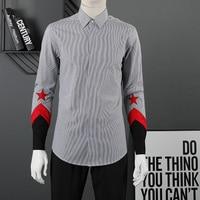 European American new men's long sleeved shirt casual men's shirt personality fashion brand long sleeved shirt