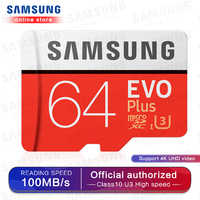 Carte mémoire Micro SD SAMSUNG EVO Plus 256 go 128 go 64 go 100 mo/s SDXC C10 U3 UHS-I carte MicroSD TF 32 go pour Smartphone et tablette