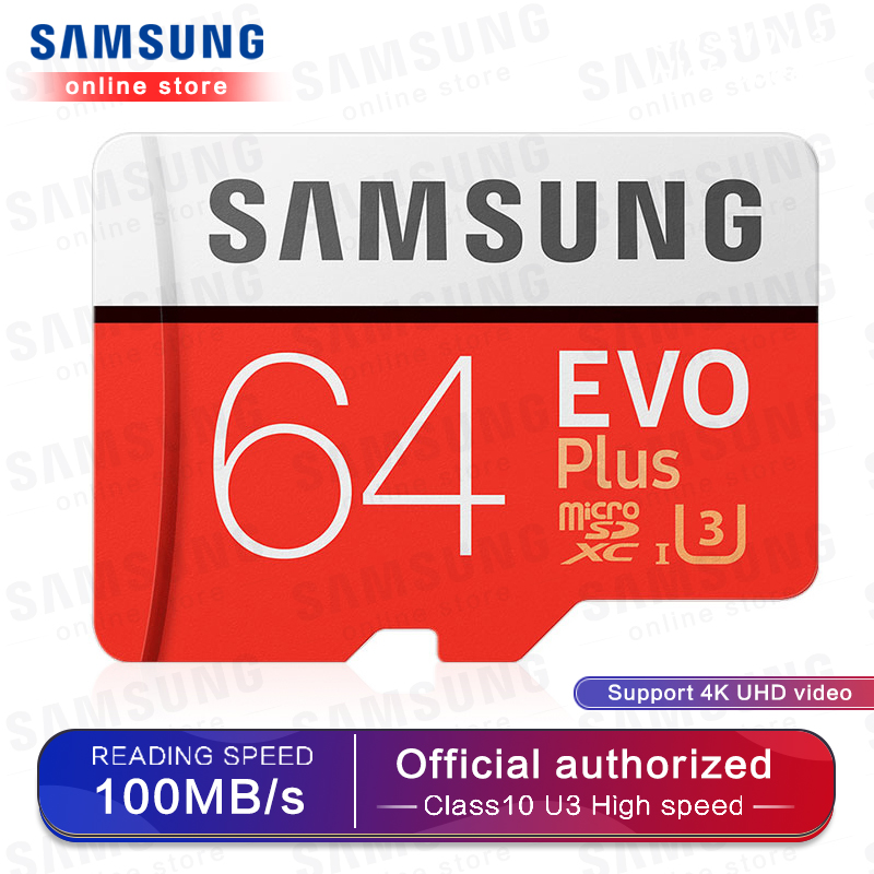 SAMSUNG Micro SD Memory Card EVO+ 128GB 100MB/s SDXC C10 U3 UHS I MicroSD TF Card EVO Plus 128G Class 10 Grade 3 100% Original-in Micro SD Cards from Computer & Office