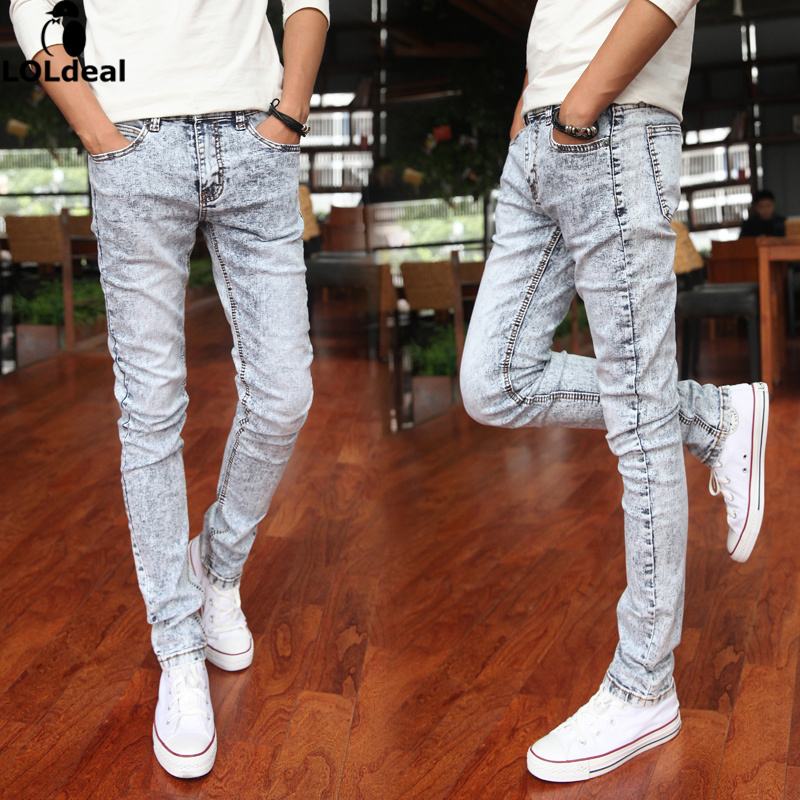 Fashionable men s clothing jeans male quality men s casual pants feet
