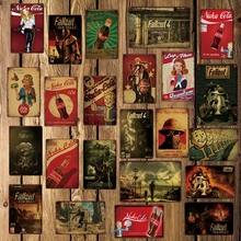 [ DecorMan ] Fallout Nuka Metal Posters Custom wholesale tin signs Mural Paintings Bar PUB Decor LT-1763