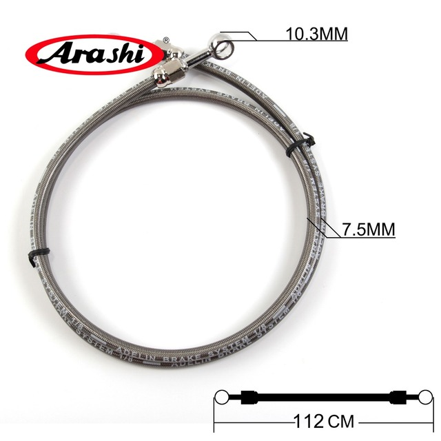 112CM Universal Motorecycle Brake Hose Hose-PG Hydraulic Reinforced Clutch Replacement Parts Brake kits Wire For HANDA YAMAHA