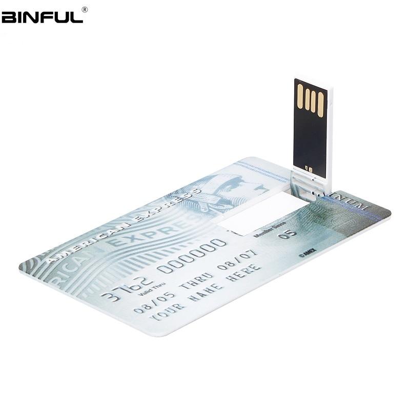 Image 2 - Creative Usb Flash Drive 128GB HSBC MasterCard Credit Usb Stick 64GB 32GB 16GB 8GB 4GB Pen Drive Bank Card Flash Disk Pendrive-in USB Flash Drives from Computer & Office