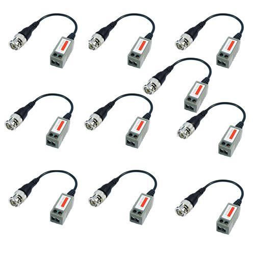 10x Camera CCTV BNC CAT5 Video Balun Passive Transceiver Cable Adapter Connector