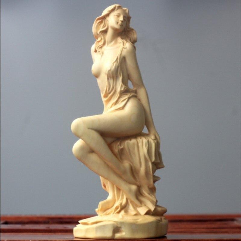 Buis sculpture sculpture artisanat décoration de la maison beauté personnages déesse de la décoration sculpture statue décorations