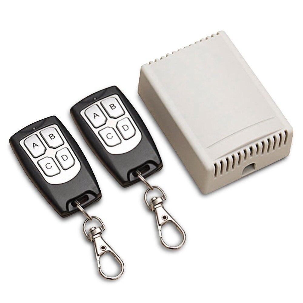 Qiachip universal 433 Mhz inalámbrico Control remoto interruptor DC 12 V 4ch módulo receptor de relé y 4 canal RF transmisor remoto