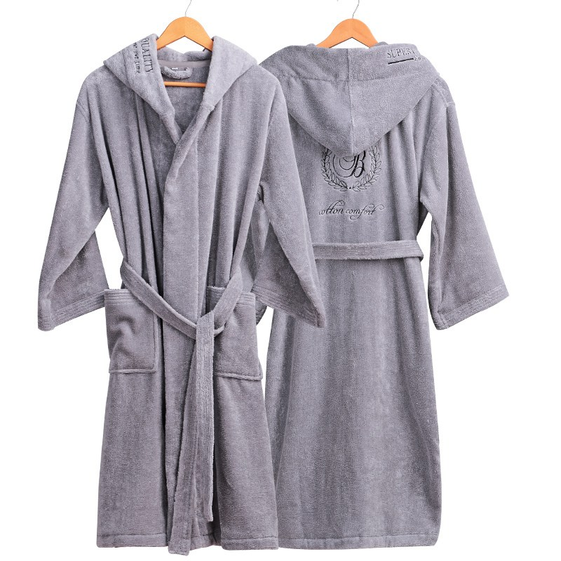 Image 2 - Winter Bathrobe Women Thick Lovers Robe bathrobe women thickening Towel fleece bath robe lounge badjas peignoir femme polaire-in Robes from Underwear & Sleepwears