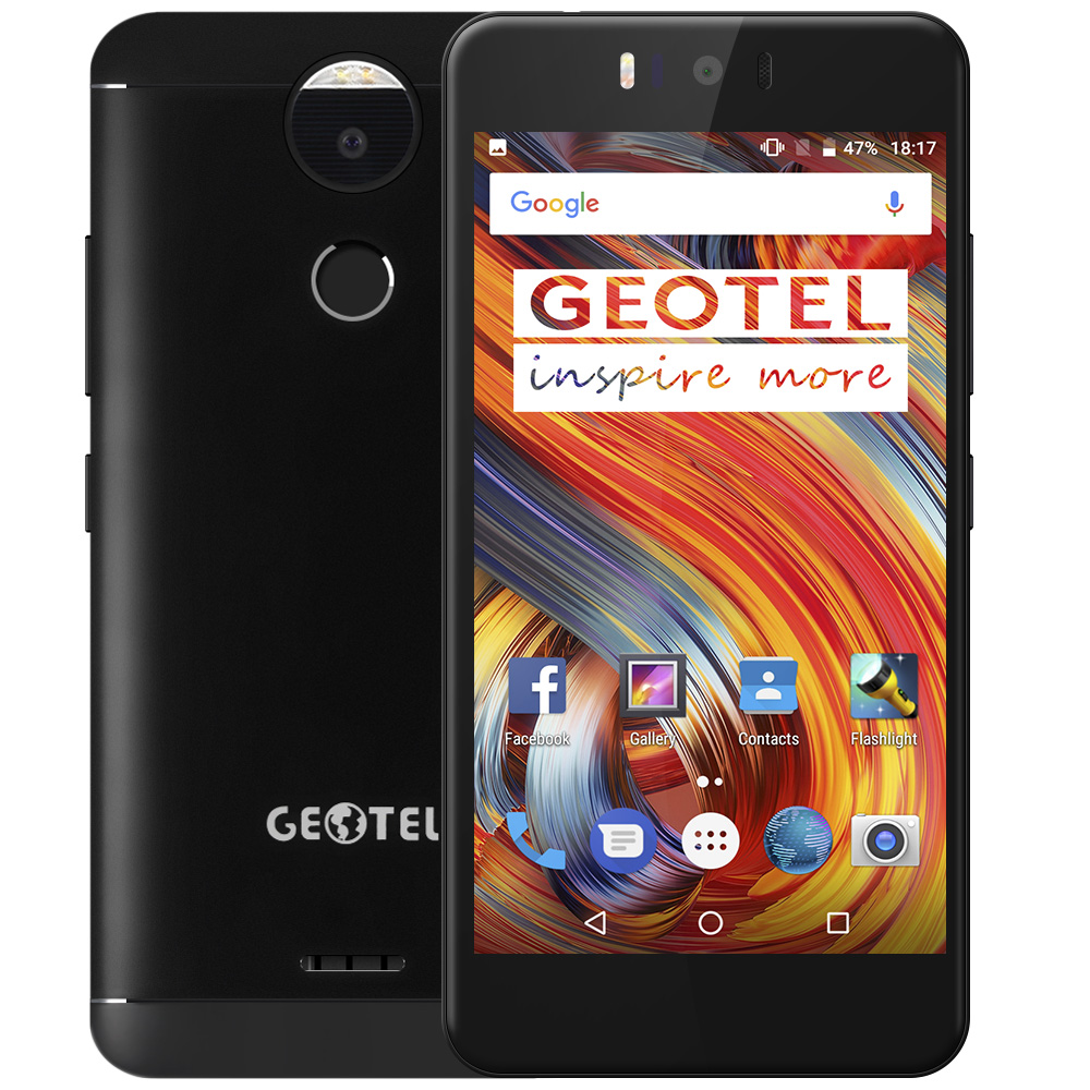 D'origine Geotel AMIGO 5.2 ''HD 13MP Android 7.0 Octa base MTK6753 3 GB + 32 GB Double Arbre à Cames 4G Mobile Téléphone D'empreintes Digitales OTA En Métal corps