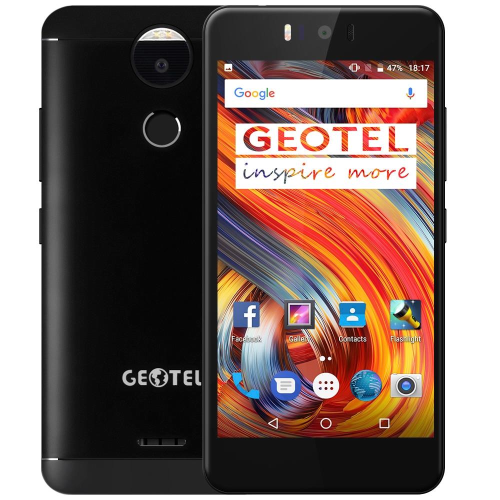 Original Geotel AMIGO 5.2'' HD 13MP Android 7.0 Octa Core MTK6753 3GB+32GB Dual Cams 4G Mobile Phone Fingerprint OTA Metal Body