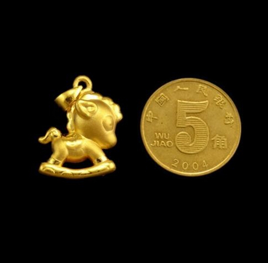 Hot sale   New   Pure 24k Yellow Gold Pendant /3D Lucky Dragon Horse Pendant / 2.72gHot sale   New   Pure 24k Yellow Gold Pendant /3D Lucky Dragon Horse Pendant / 2.72g