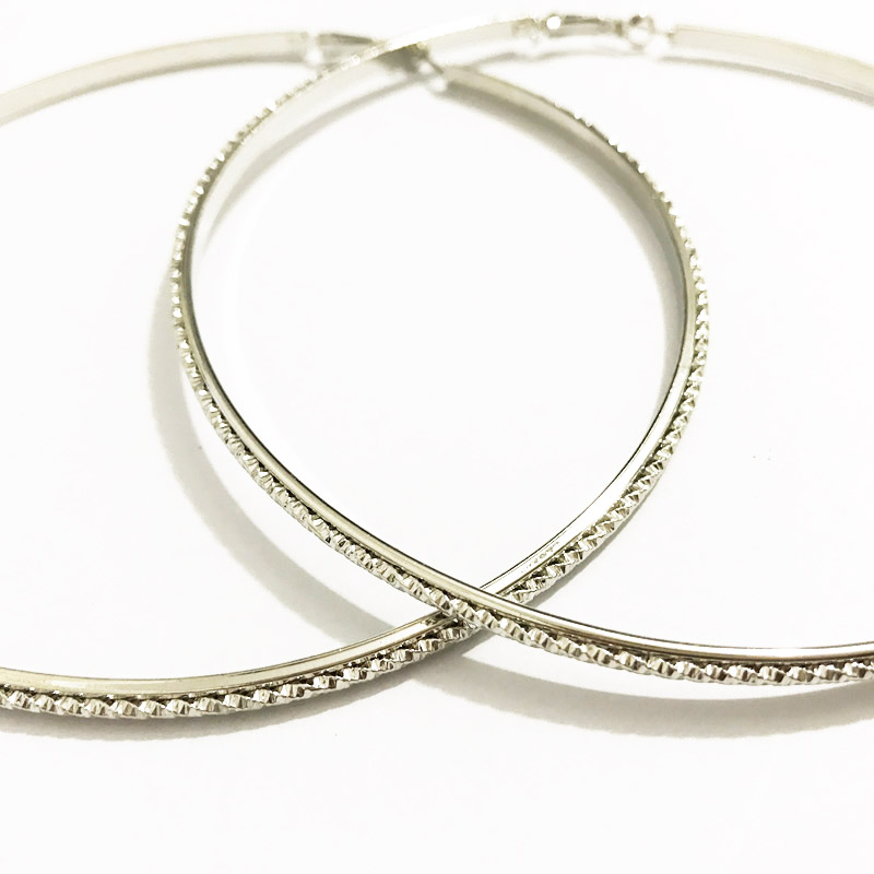 Gothletic Brand 110mm Extra Large Hoop Earrings Gold Rhodium Color Textured Metal Circle Statement For Women Brincos In From Jewelry