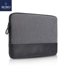 2017 New WIWU Laptop Bag 11.6 GENUINE LEATHER for Dell XPS 13 Case for MacBook Air 11.6 Laptop Sleeve for Surface Pro 1/2/3/4(China)