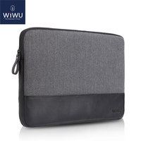 2018 New WIWU Laptop Bag 11.6 GENUINE LEATHER for Dell XPS 13 Case for MacBook Air 11.6 Laptop Sleeve for Surface Pro 1/2/3/4