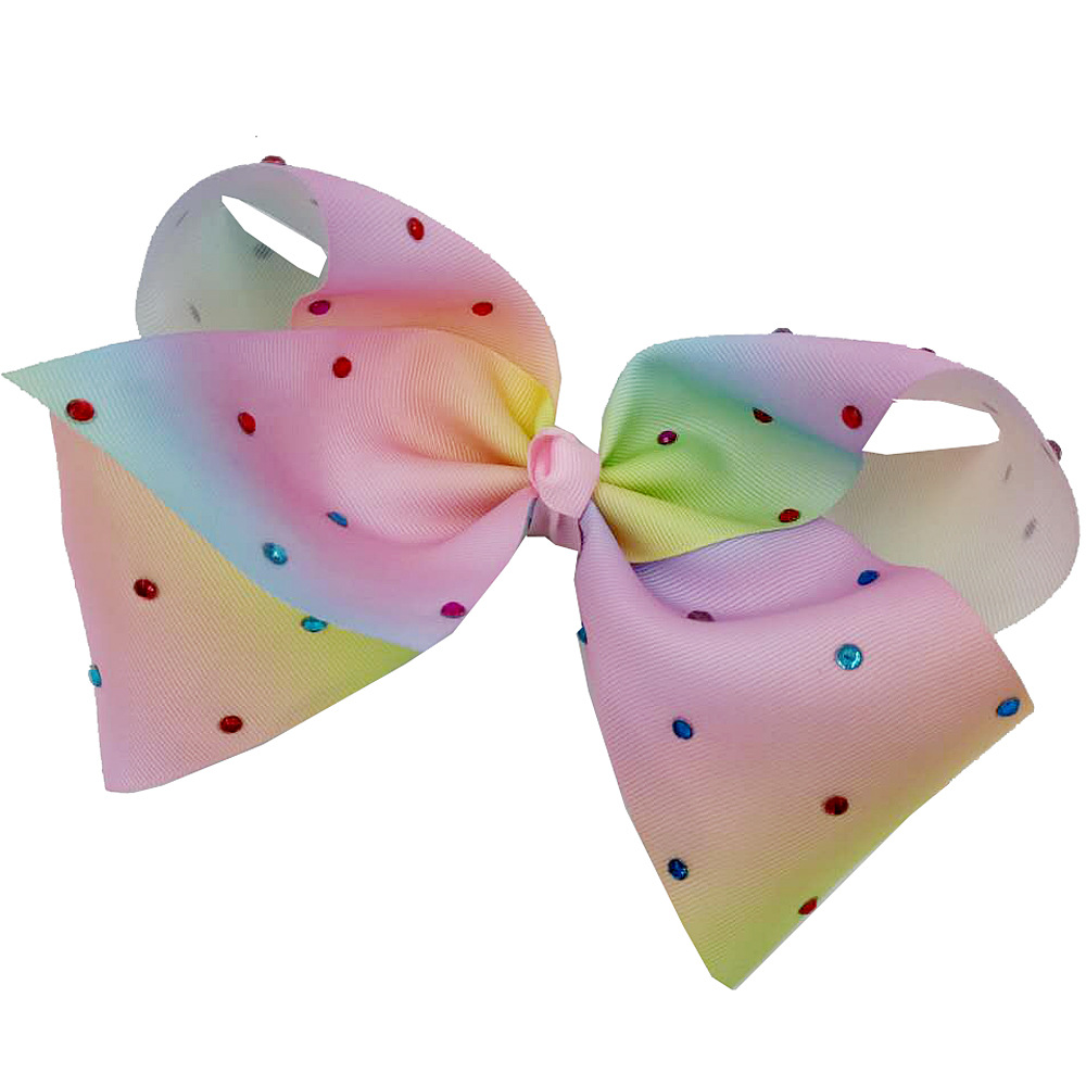 2017 Newest 7'' Jojo Bow Large Bowknot Hairpins with Diamond Girl Barrette Large Colorful Bow Hair Clip Hair Accessories lysumduoe headband black hairpin women clip s shape barrette girl hairgrip hairgrips children hairpins jewelry hair accessories