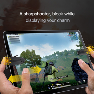 Image 5 - Baseus 2PC sterowanie wyzwalaczem gier dla PUBG gry Shooter przycisk ognia strzelanie gra Joystick dla iPad Pro Xiaomi Huawei tablety