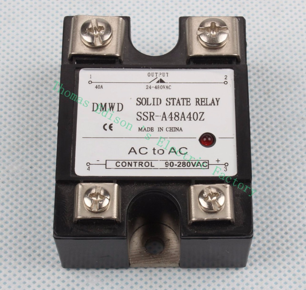Cut Price Dmwd Indicator Single Phase 40a Solid State Relay Ac For Control Ssr 40aa Input 90 280vac Output 24 480vac A48a40z