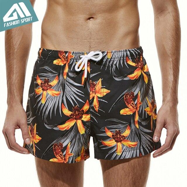 dbd3f3a452990 Seobean Summer Playful Pattern Men's Board Shorts Fixed Waist Swim Trunk  Holiday Beach Fast Dry Men Swimming Shorts AM2051