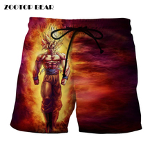 Anime Men's summer shorts Dragon Ball Z Beach swimwear Bermuda
