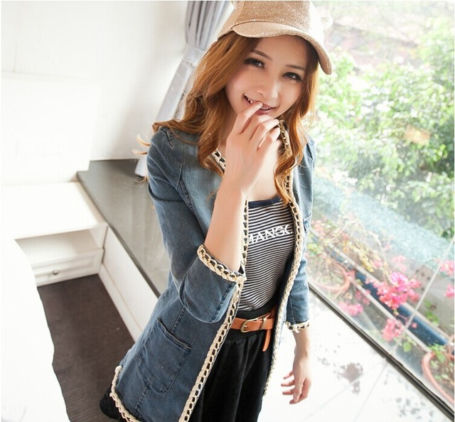 vaqueros Vintage stitch camisa moda 2014 cadenes Denim mujer Jeans nueva  cadenas abrir largos de para PxFp0 597a106724b