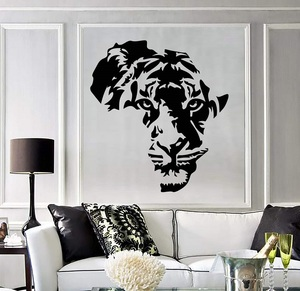 Image 1 - Vinyl applique tiger animal Africa map childrens room wall stickers art stickers living room bedroom home decoration 2DT7