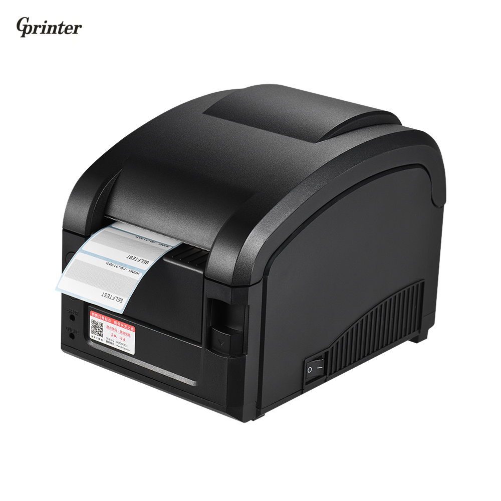 Gprinter Thermal Printer Adhesive Sticker Barcode Label Graphic Printer High Speed 23-80mm Printing Width for USB POS Computer supermarket direct thermal printing label code printer