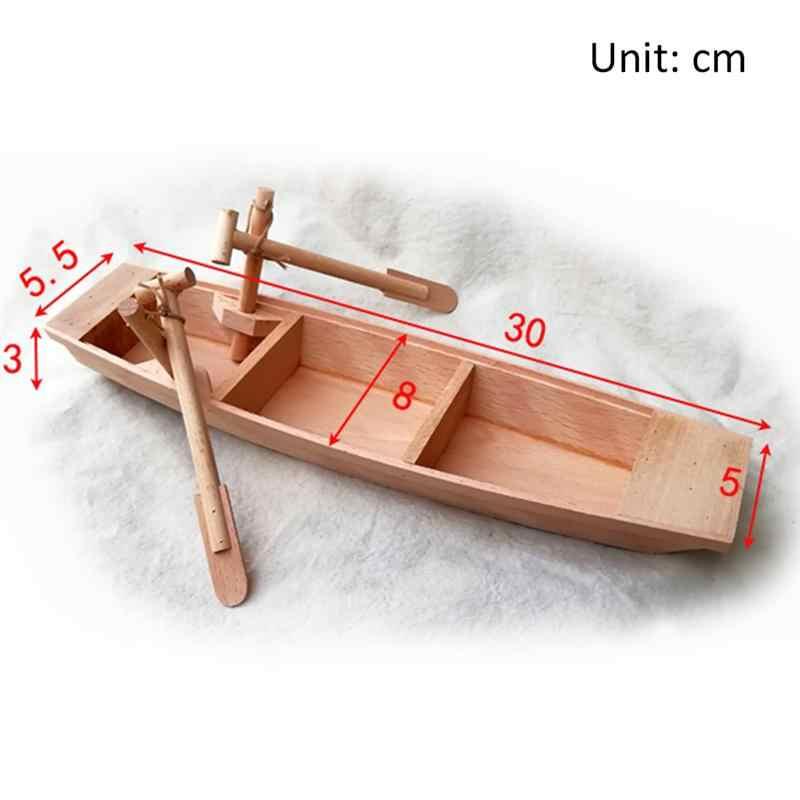 Gỗ Mini Mô Hình Thuyền Gỗ Nhỏ Tàu Đánh Cá Nhỏ Mô Hình Thuyền Cho Trang Trí Nhà Văn Phòng