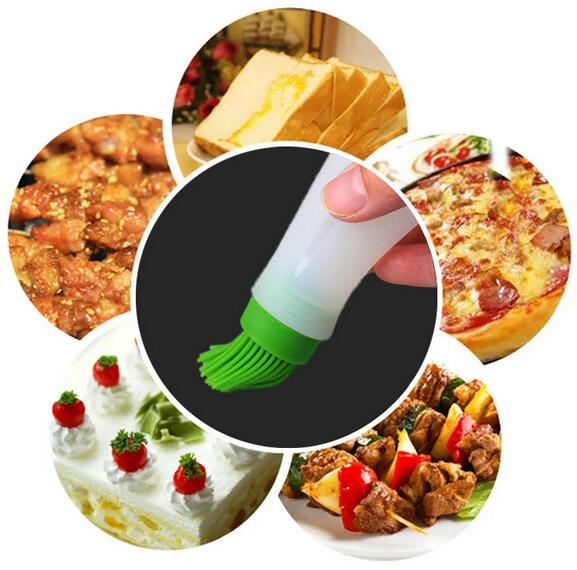 Fashion Hot Portable Flapjack Barbecue Oil Brushes Silicone Baking Kitchen Oil Brush High Temperature