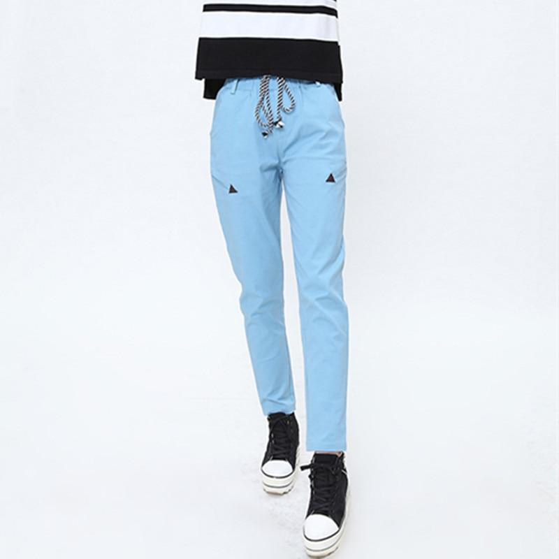 2018 printemps version du nouveau pantalon de loisirs de mode avec ceinture en cuir taille pantalon pantalon pour femmes capris pour les femmes