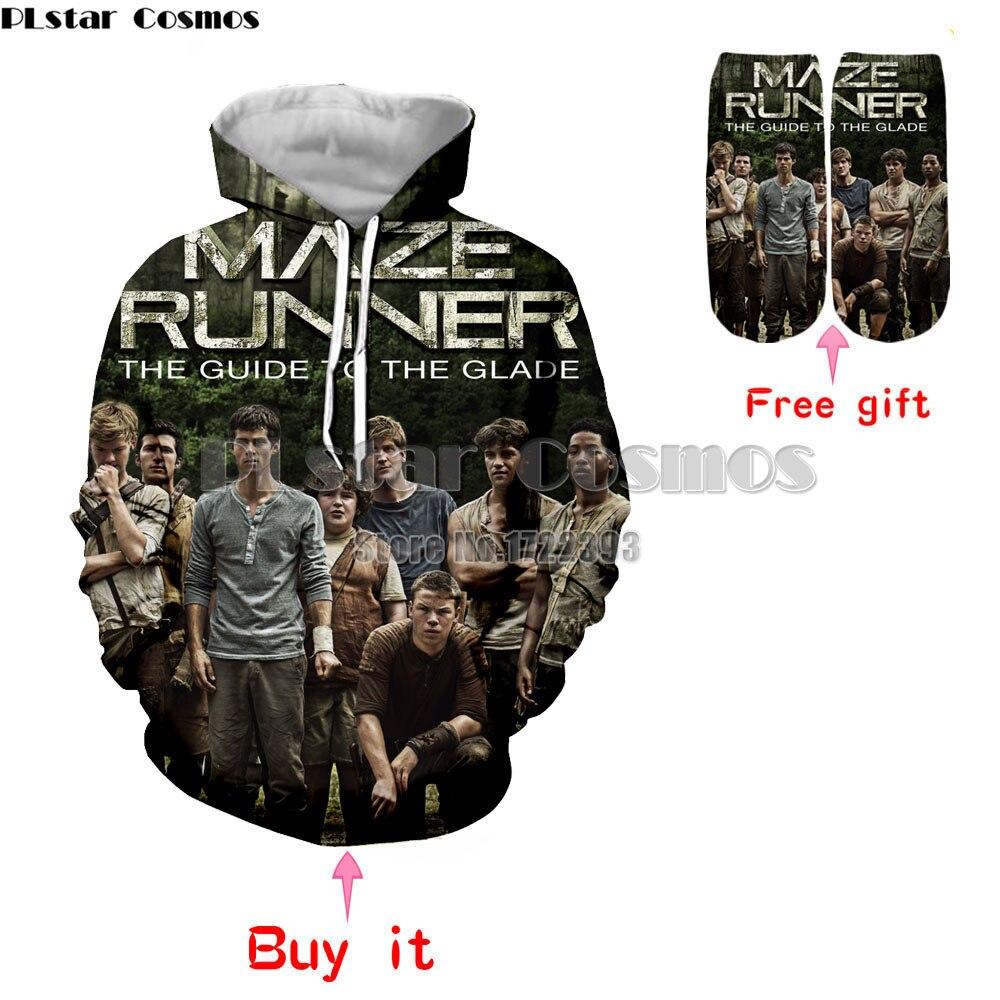 PLstar Cosmos Men/Women Casual Sweatshirts The Maze Runner 3d Print Hoodies Loose Thin Hoodie Pullovers With Pocket Unisex Tops