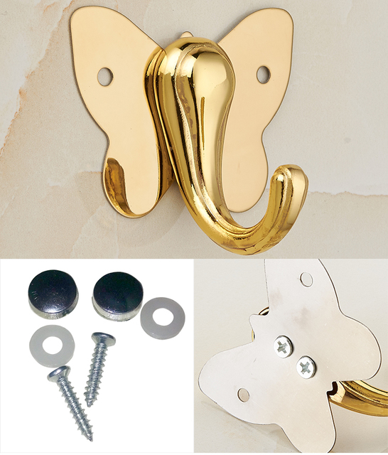 Butterfly sewing hook 4cm metal color golden