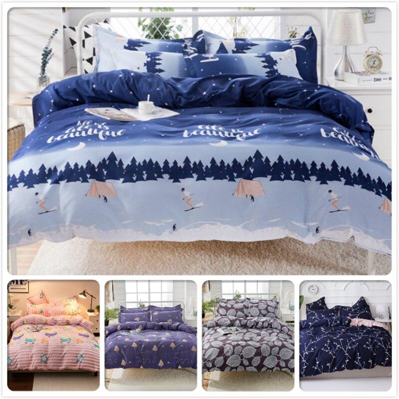 Nordic Style Fashion Duvet Cover Quilt Comforter Case 3/4 pcs Bedding Set Kids Cotton Soft Skin Fabric Bed Linen 1.2m 1.35m 1.5m