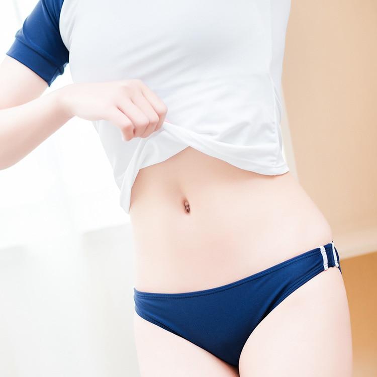 Two-piece swimsuit Japanese school swimwear lolita girl women student suit cute anime cosplay Su ku water