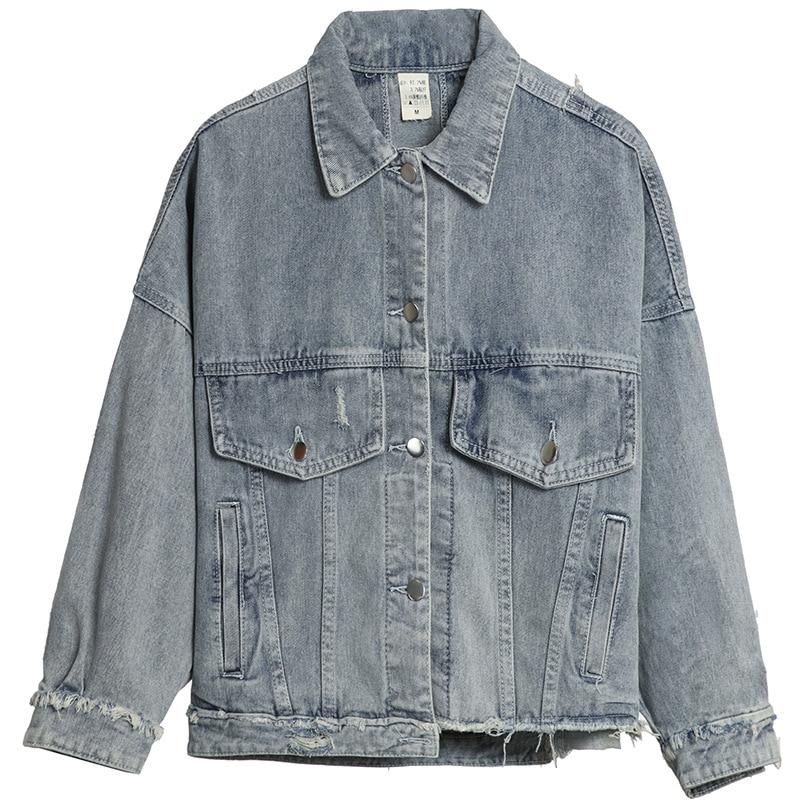 Short Girl Jeans Autumn Jeans Jacket Fitting Winter Holes Loose Blue Wear wq1wPT