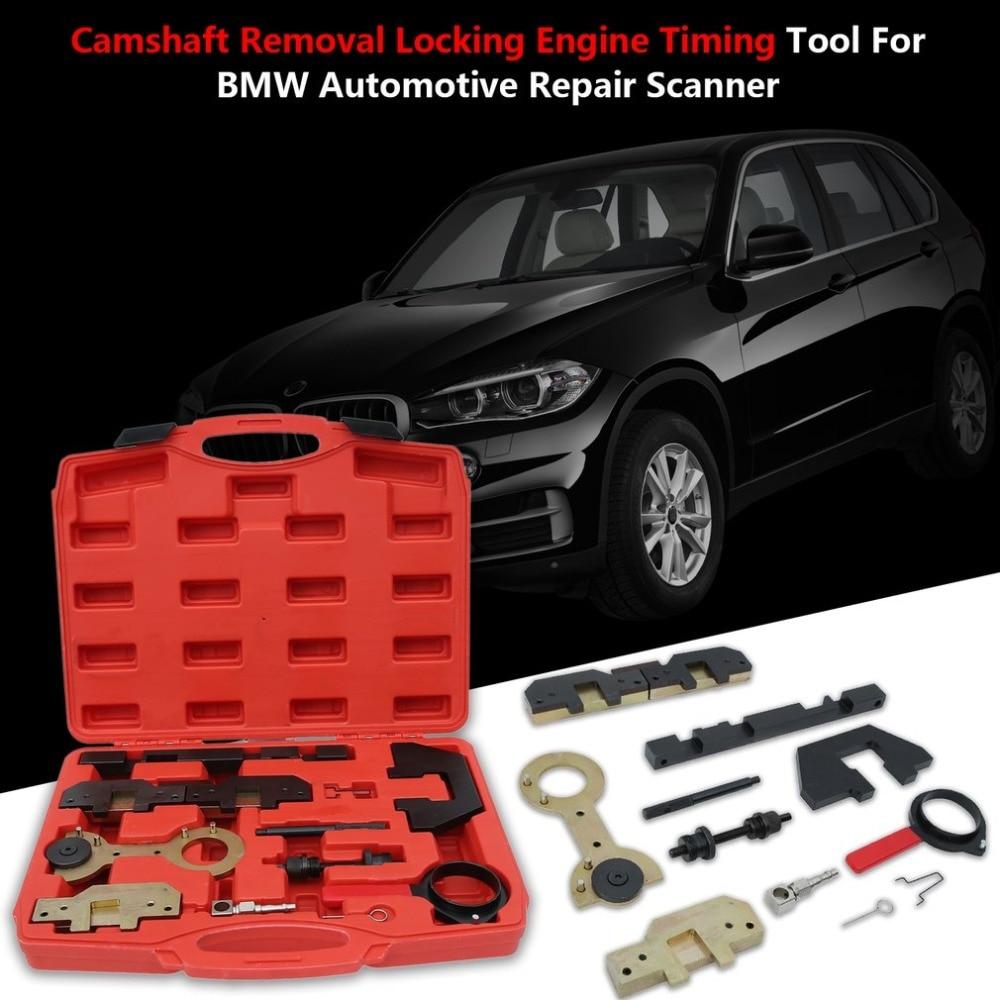 цена 11Pcs/Set Camshaft Removal Locking Engine Timing Tool For BMW M40 M43 M44 M50 M52 M54 M56 Automotive Repair Scanner NEW в интернет-магазинах