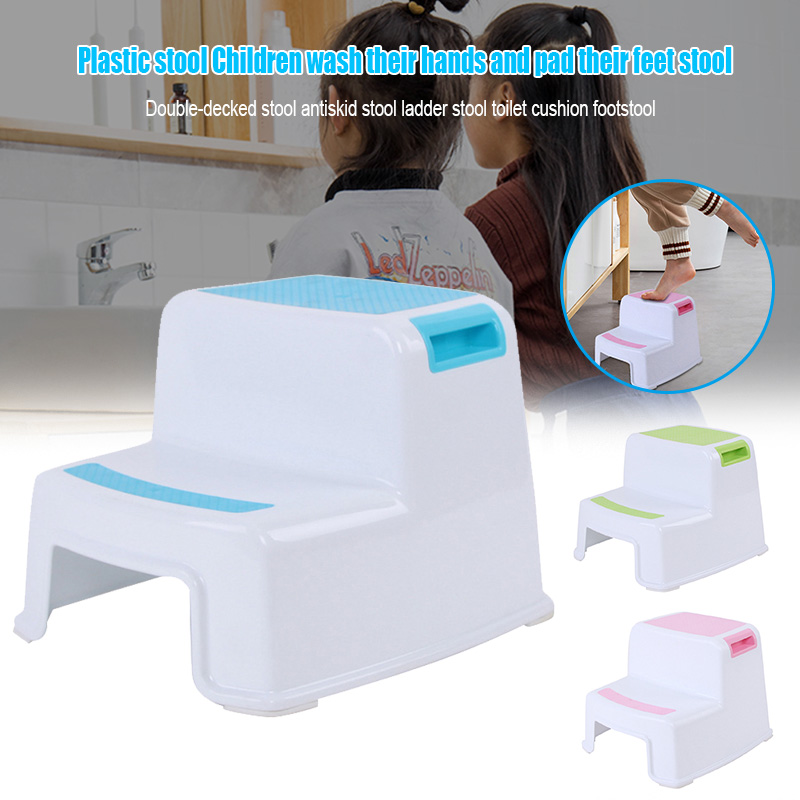 HOT 2 Step Stool Toddler Kids Stool Toilet Potty Training Slip Resistant For Bathroom Kitchen SDF-SHIP