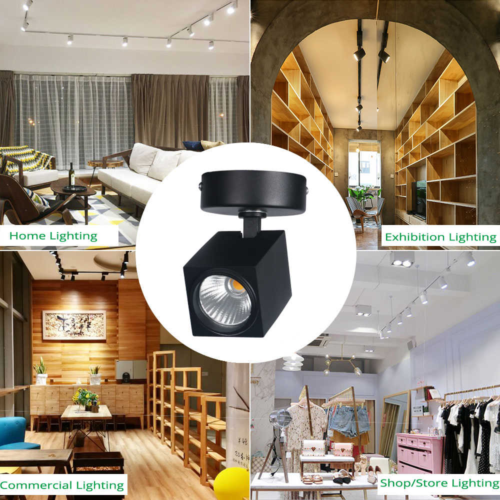 Led track light spot rail lights 12w cree ceiling clothing shop store windows spotlights lighting cob