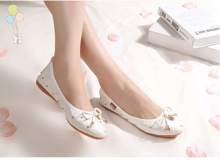 2017 Spring Summer comfortable career ladies flat shoes sweet ballerina flats footwear Very soft flat shoes women 34-45 ballerina wedding shoes women sweet candy ballet pointy pu leather shoes girls summer spring flat shoes butterfly bowknot