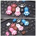 Envío gratis los más populares creación regalos de huellas de Animales de dibujos animados usb 2g 4g 8g 16g 32g mini pendrive con llavero