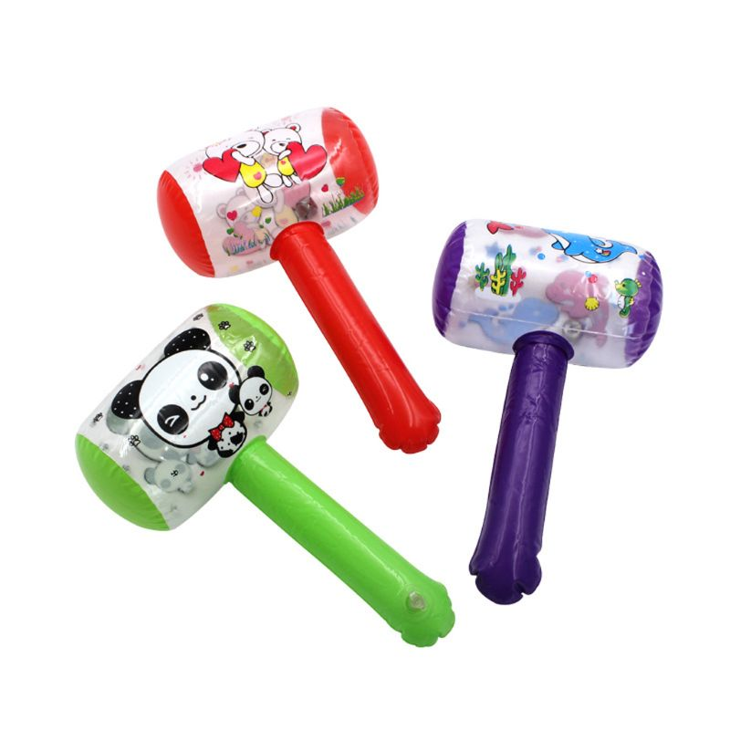 Inflatable Hammer With Bell Air Hammer Baby Kids Toys Party Favors Inflatable Toy Pool Beach Party Toy